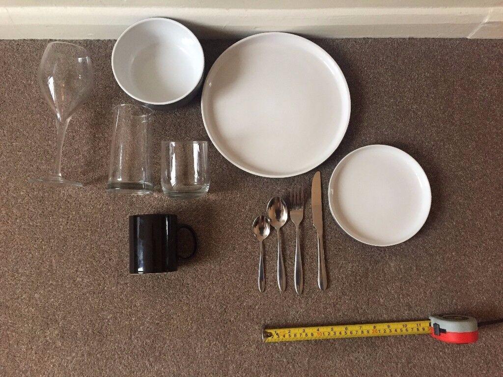 Dining Set (Plates Bowls Glasses Mugs Cutlery) & Dining Set (Plates Bowls Glasses Mugs Cutlery) | in Shepherds ...