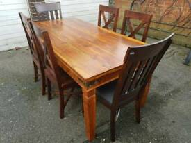 Sheesham Dining X 6 Chairs + Delivery