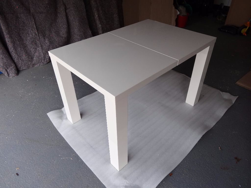 Danetti Fern White Gloss Extending Dining Table