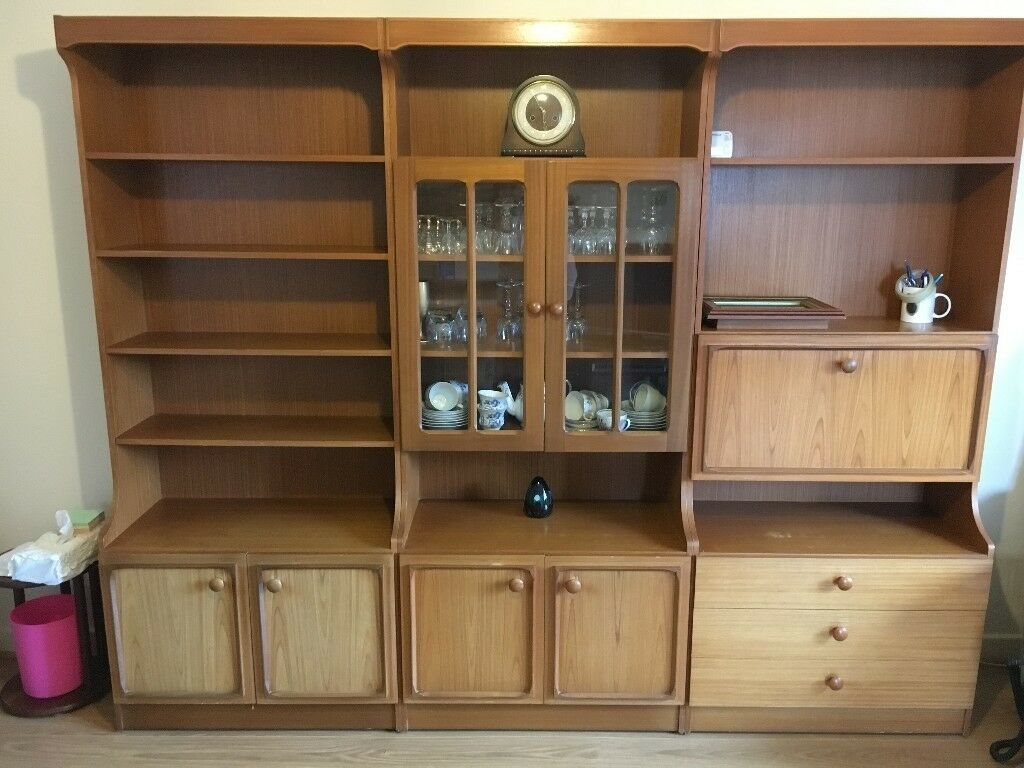 Stonehill Furniture Wooden Display Unit, Drinks Cabinet And Cupboards And  Drawers
