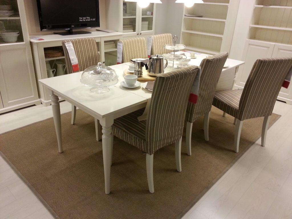 Superior Extendable Ikea INGATORP White Dining Table   Seats 6 And Extends To Seat  8/10