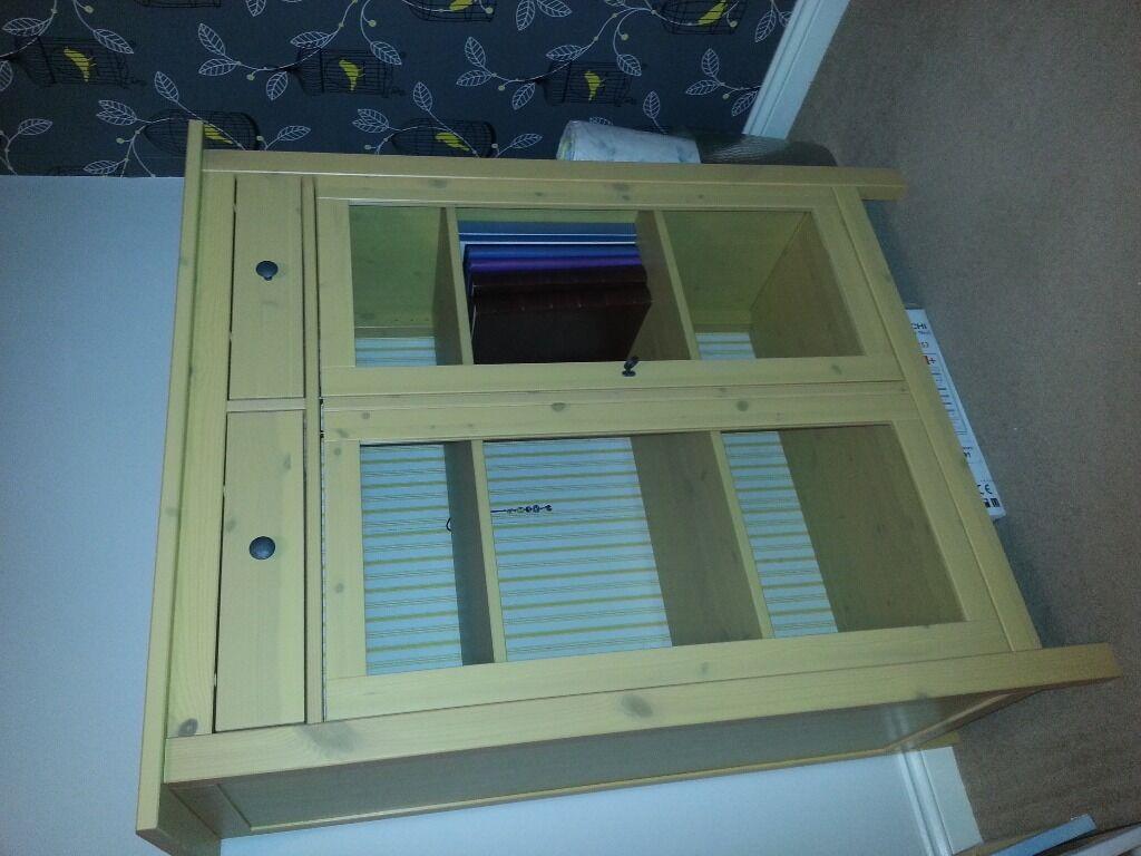 Ikea Hemnes 3 Drawer Unit U0026 Linen Cabinet   Solid Wood, Rare Discontinued  Yellow