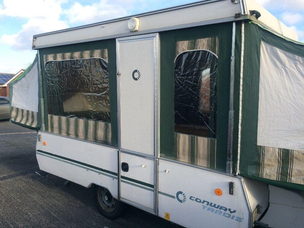 Conway Tardis 6 berth Pop Up Folding C&er Trailer Tent Caravan Awning & Conway Tardis 6 berth Pop Up Folding Camper Trailer Tent Caravan ...