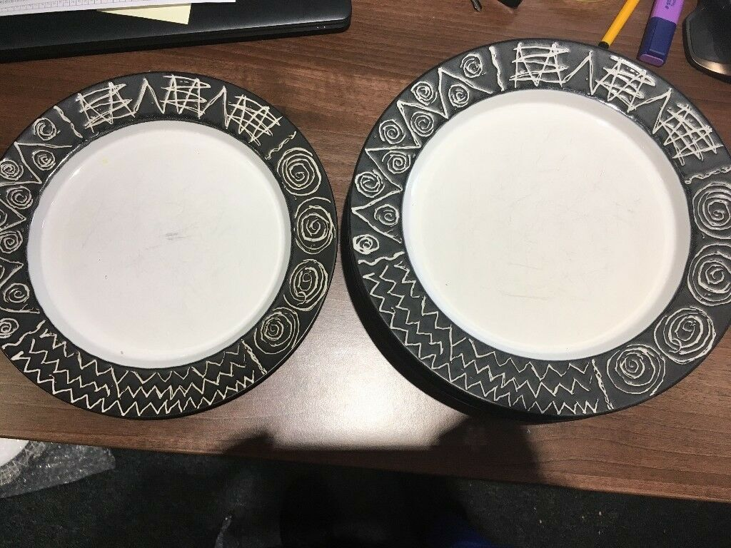A lovely set of Scraffito by HABITAT Table ware All in great condition. & A lovely set of Scraffito by HABITAT Table ware All in great ...