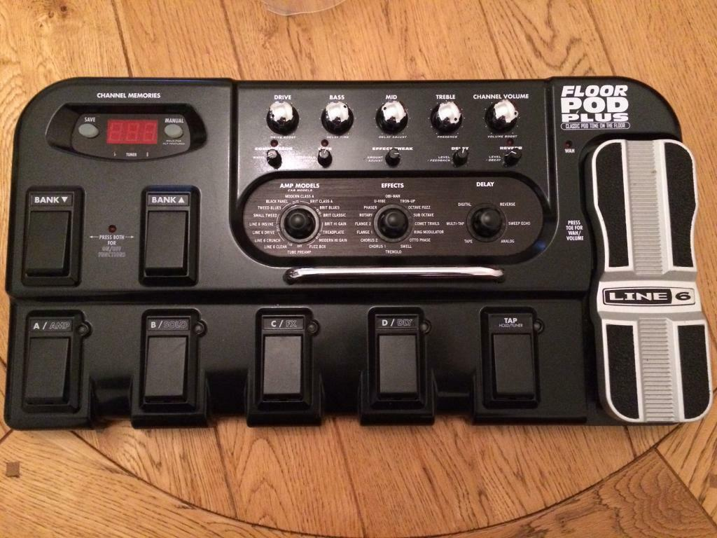 Line 6 Floor Pod Plus Guitar Pedal Board