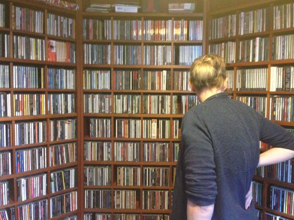 IKEA Billy Bookcase CD Storage Inserts Cherry