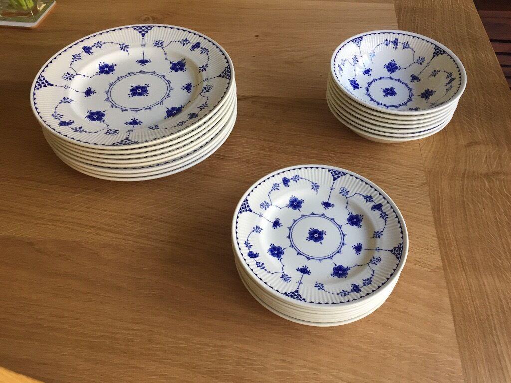 Blue and White Denmark pattern Dinner Set & Blue and White Denmark pattern Dinner Set | in Eastleigh Hampshire ...