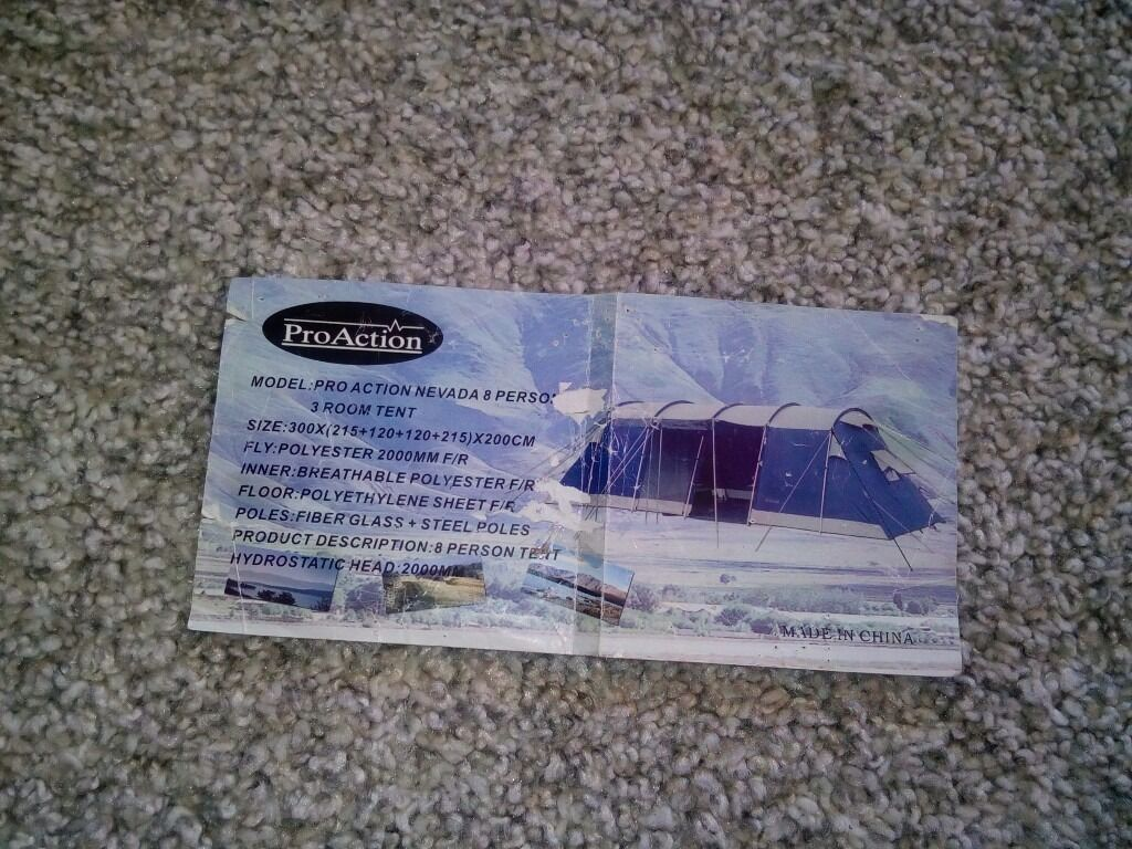 PRO ACTION NEVADA 8 PERSON 3 ROOM TENT & PRO ACTION NEVADA 8 PERSON 3 ROOM TENT | in Newcastle Tyne and ...