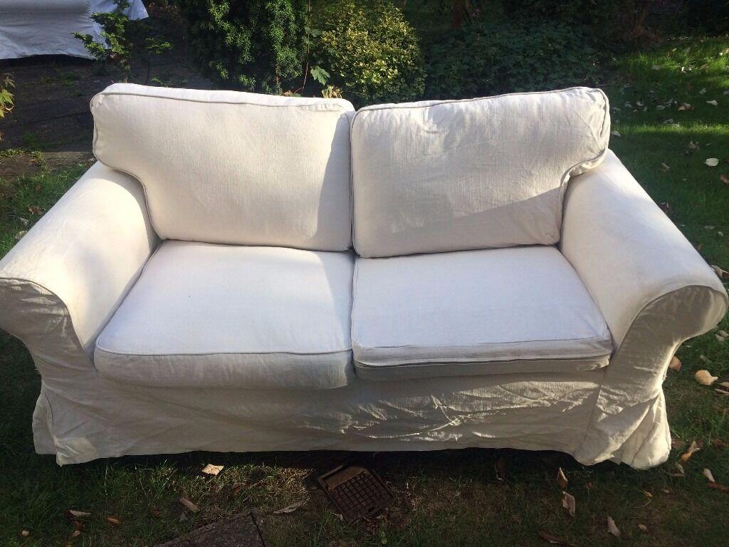 2 Seater Ikea Ektorp Sofa   Off White/ Cream / Lofallet Beige