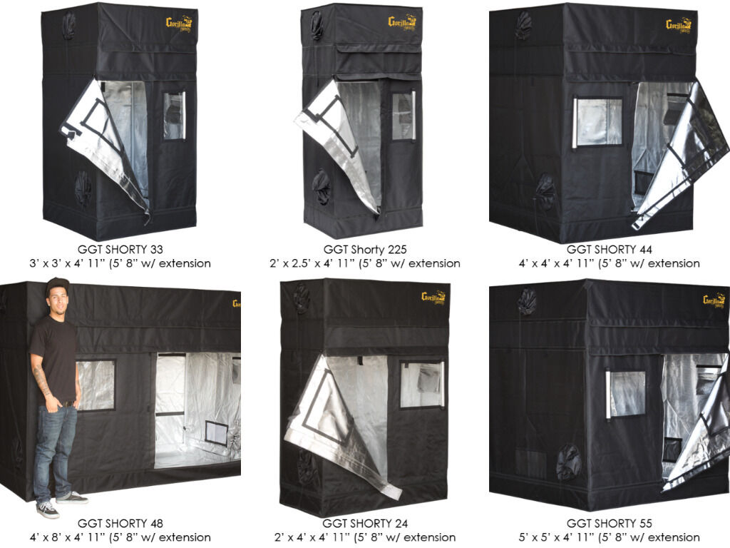 Gorilla SHORTY Grow Tent Room Kit Setup Hydroponics + FREE Height Extension Kit : 4 x 3 grow tent - memphite.com