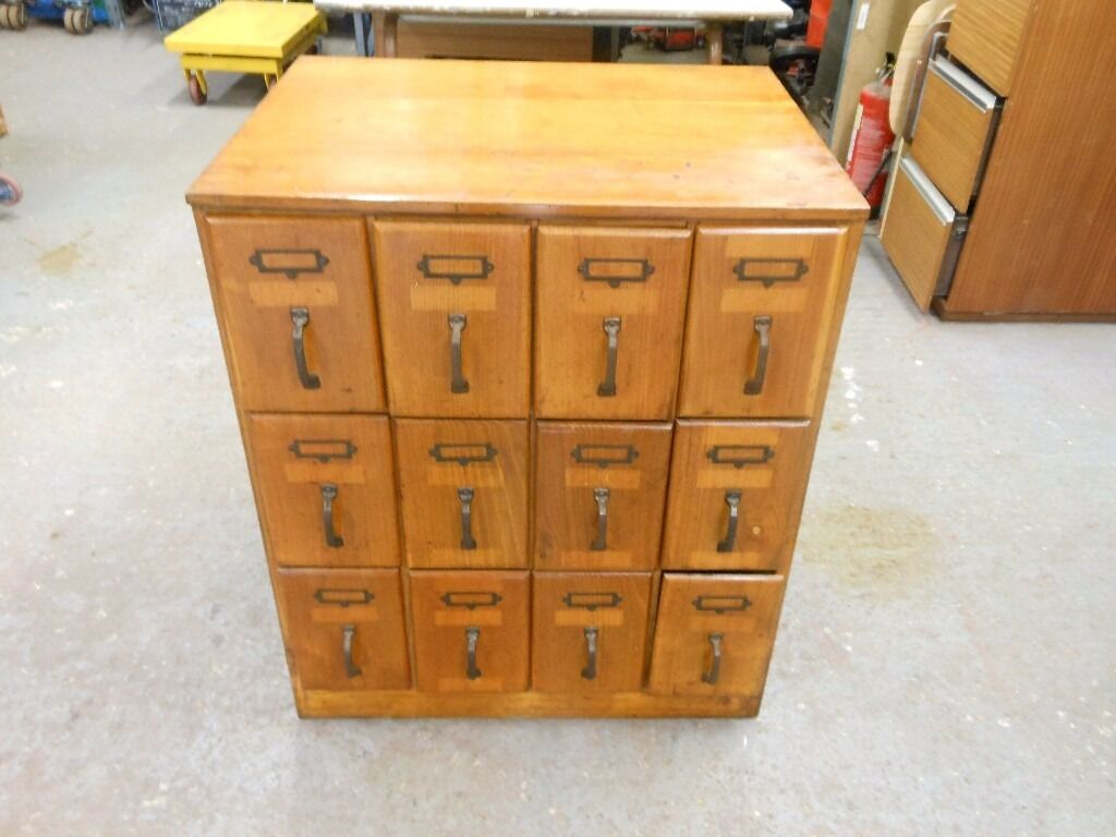 Vintage Style Pattern Haberdashery Cabinet With 12 Large, Deep Drawers.  Gorgeous. Can Deliver