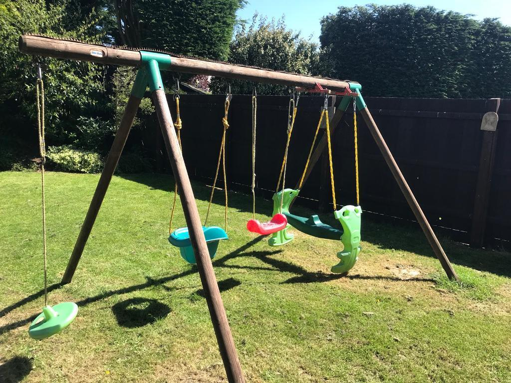 Little Tikes Kids Garden Swing Set Baby Play Centre Nursery