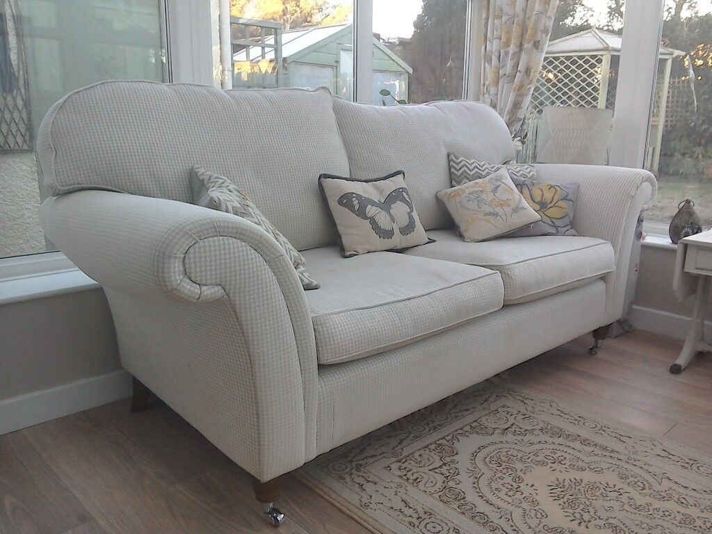 Laura Ashley Grey Sofa