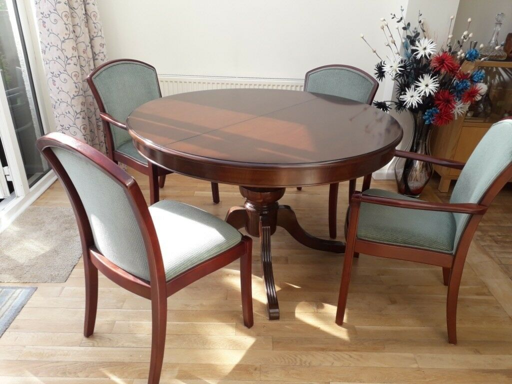 Hatfields, Solid Mahogany, Extendable Dining Table And 4 Chairs.