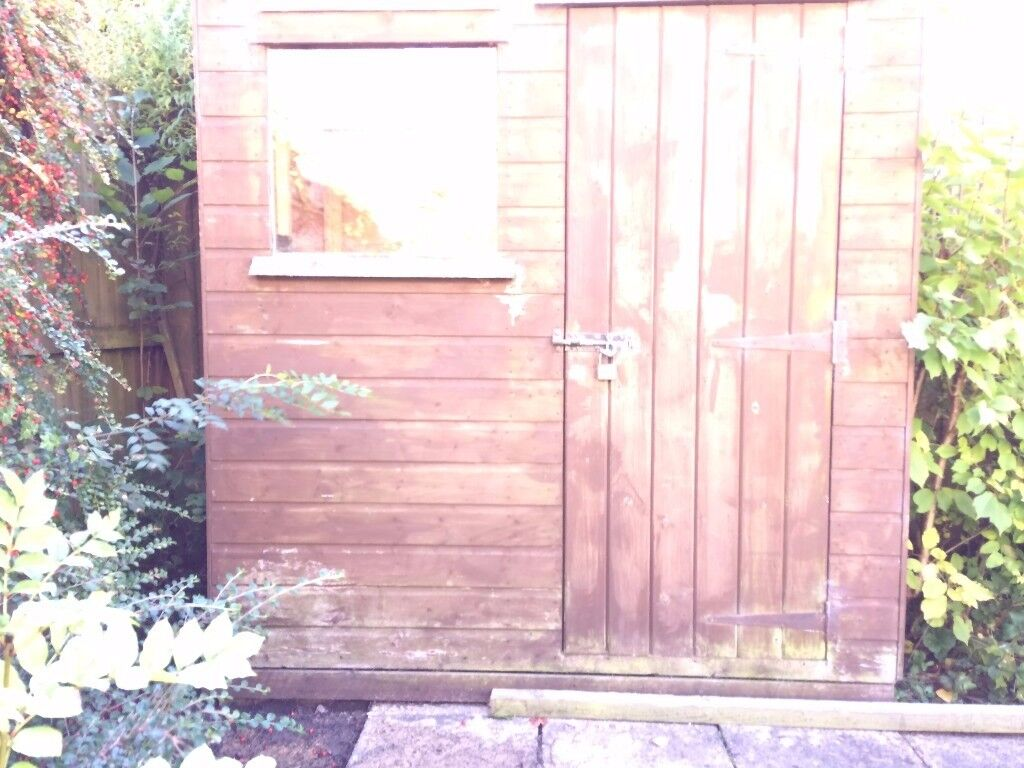 Tongue And Groove Wooden Garden Shed 6ft X 4ft With Window Buyer Dismantle  And Collect