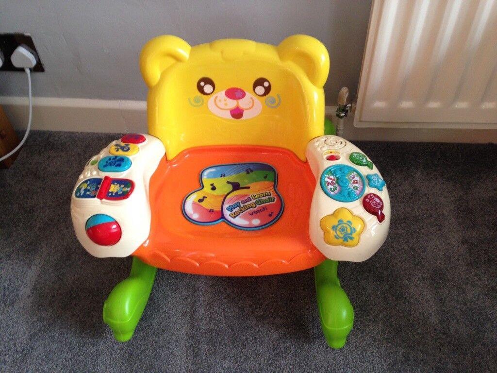 VTech Play U0026 Learn Rocking Chair   With Fun Lights, Sounds U0026 Music