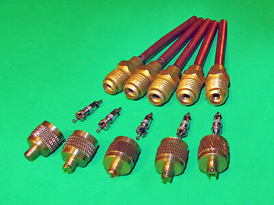 """5 Service/Access Valve + Core & Cap/Core Remover 1/4"""" SAE x 3/16"""" OD x 3"""" stem for sale  Shipping to India"""