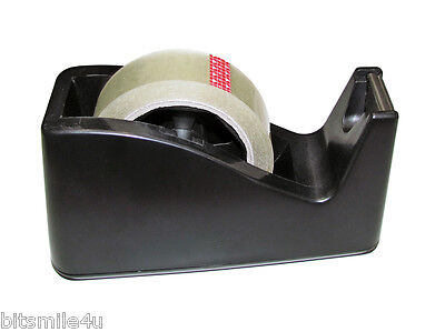 1 Wide Tape Weighted Base Desktop Tape Dispenser 2 Cores 1 Roll Clear Tape