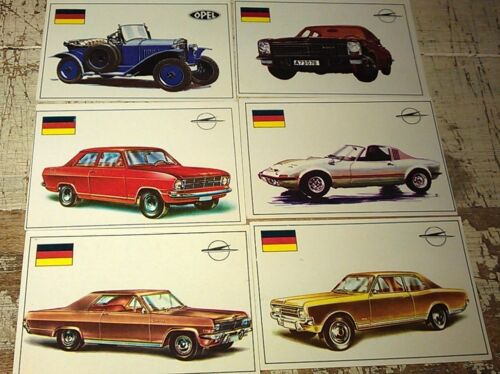 OPEL - Famous Cars by Top Sellers Ltd UK Trade Cards RARE
