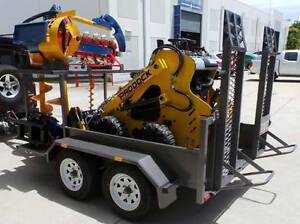 Mini Loader on Trailer with Accessories Eagle Farm Brisbane North East Preview