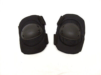 Atlanco Tru-Spec black exterior elbow pad set double strap padded tactical OSFA
