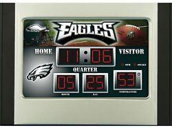 Philadelphia Eagles Scoreboard Desk & Alarm Clock [NEW] NFL Watch Time Office