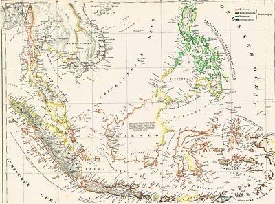 👹🎋👹177 Jahre alte Landkarte OSTINDIEN Bali Indonesien Philippinen Manila 1842 (Karte Indonesien)