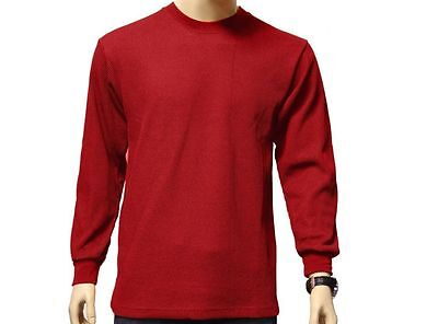 New Men's Royal Red Long Sleeve Crew Neck Thermal Size Medium Brand New!