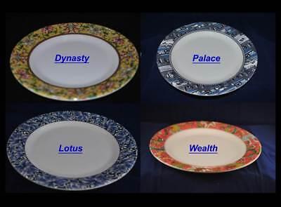 Melamine Round Plates Dishes Tray Set of 12 Dynasty Palace Wealth Lotus - Melamine Round Plates