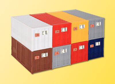 Kibri 10924 20-Fuß-Container, 8 Stück , Bausatz, H0