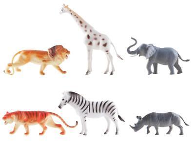 6 Zootiere Spielfiguren / ca. 15 cm ()