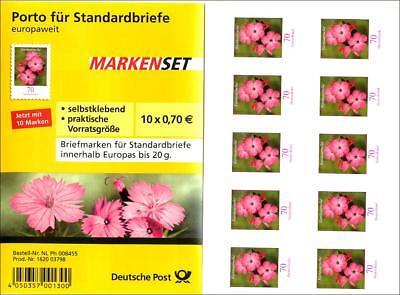 Nelke Blatt (fb8p] Bund, Folienblatt 8 postfrisch - MiNr. 2716 Karthäusernelke)
