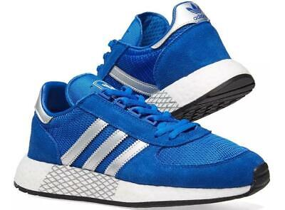 Men's Adidas Marathon Running Shoes Trainers Gym Sneakers  Blue