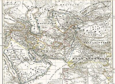 القديمة خريطة الخلافة الجزيرة العراق العربي الخلافة الجزيرة 1844