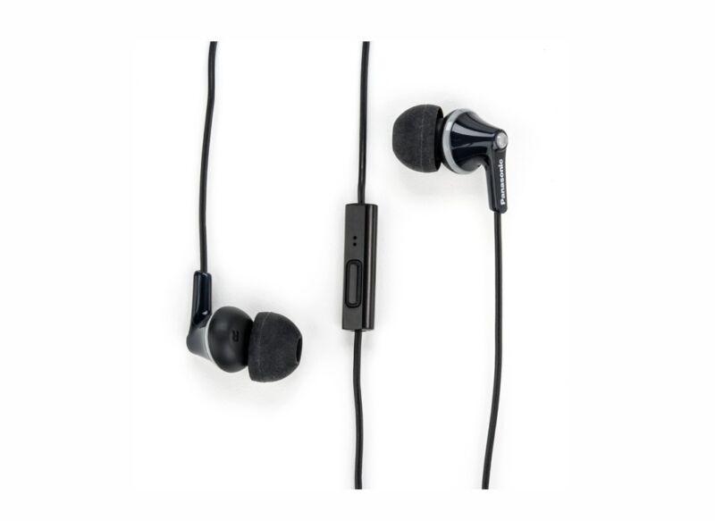 Panasonic RP-TCM125-K ErgoFit In-Ear Headphones with microphone & remote, Black
