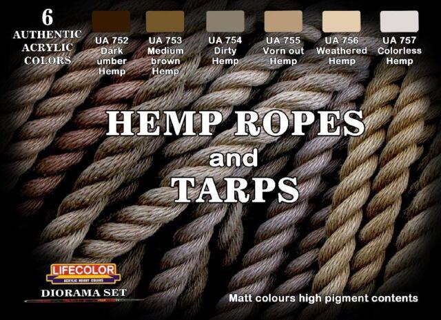 Lifecolor CS28 Hemp Ropes and Tarps