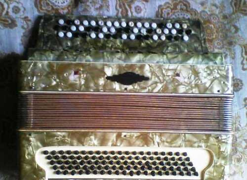 Button accordion Harmonica, 3  4, 100bass, Germany 1936