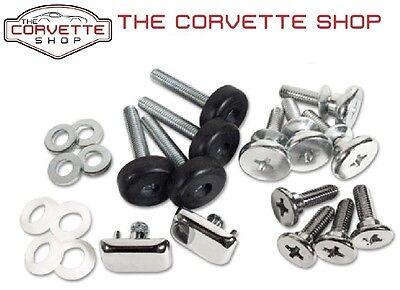 C3 Corvette Seat Hardware Repair Kit Install w/ button 1974-1978 22 pcs 43224, used for sale  Livonia