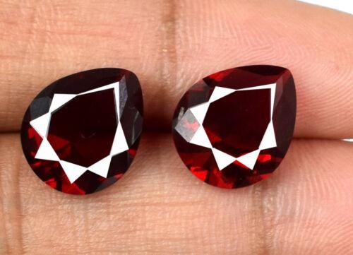 6.45 Ct Pear Cut Burma Ruby Gemstone Pair 100% Natural VS Clarity AGI Certified