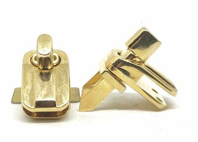 Riemen Shopper Handtasche (2 x DREHWIRBELVERSCHLUSS Riemen Shopper Handtasche gold ERSATZTEIL und NEUWARE)