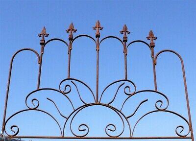 Wrought Iron Sunburst Garden Fence Border - Trellis for Flowers & Vine, Fencing