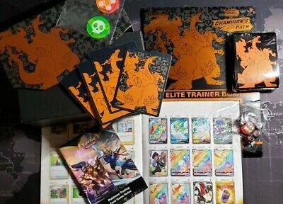 Pokemon Champion's Path ELITE TRAINER Charizard VMax: Box Sleeve Book Dice Coin