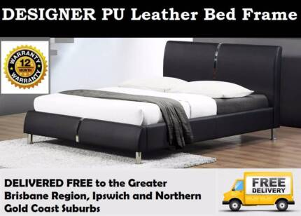 BRAND NEW Double Size PU Leather Bed Frame - FREE DELIVERY