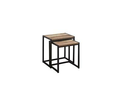 Retro Industrial Nest of 2 Tables / Pair of Occasional Tables / End Units