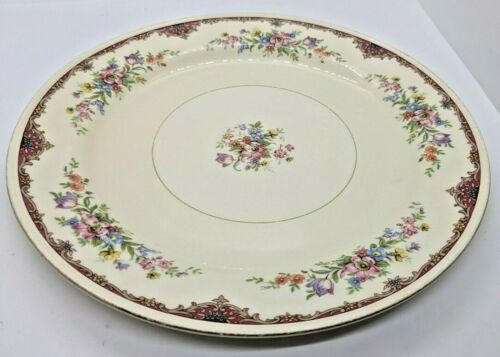 "Six, Vintage Antique Eggshell Nautilus China Dinner Plates, 10"" Diameter"