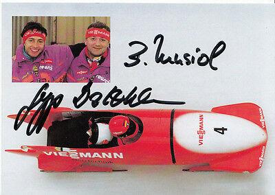 Sepp Dossthaler & Bogdan Musiol TOP AK  Orig. Sign.  Rodeln +A33257
