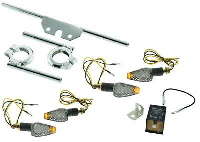 LED Blinker 6V Miniblinker Satz KLAR für Simson S50 S51 Blinkgeber Halter
