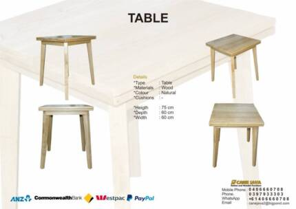 MELBOURNE DINING TABLE_SUNKAI WOOD_NATURAL COLOR