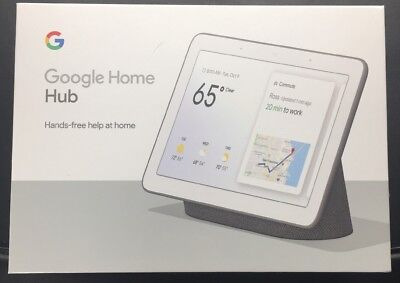 Google Home Hub - Charcoal - Smart Assistant Brand New Sealed GA00515-US