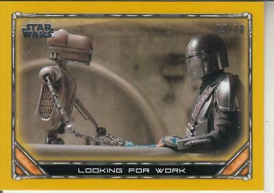 2020 TOPPS STAR WARS THE MANDALORIAN GOLD LOOKING FOR WORK CARD SP 09/10